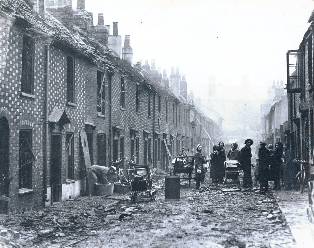 The aftermath of a bombing raid on Conway Street, Portsmouth on 23 December. (Photo: The News, Portsmouth)