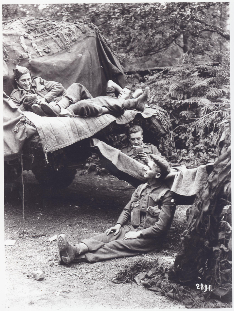 This photograph shows British soldiers waiting in a camp near Portsmouth before D-Day. (Photo: The News, Portsmouth)